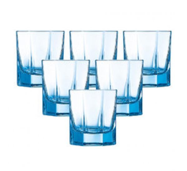 Bộ 6 cốc thủy tinh Luminarc Octime màu xanh 300ml J4389 (áp dụng khi mua từ 5 bộ)